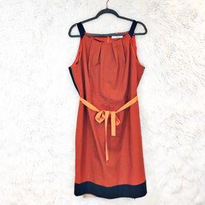 Tahari Woman color block sleeveless dress